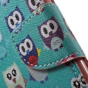 Wall peňaženkové puzdro pre LG K10 - malej sovy - 6