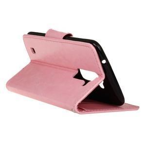 Horse PU kožené puzdro pre LG K10 - ružové - 6