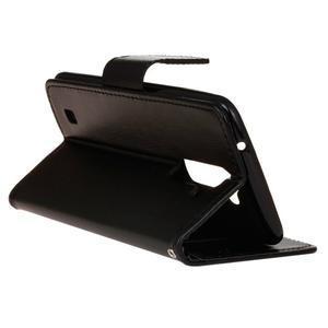 Horse PU kožené puzdro pre LG K10 - čierne - 6