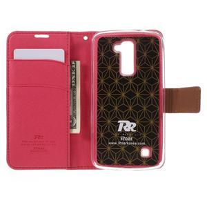 Style PU kožené puzdro pro LG K10 - rose - 6
