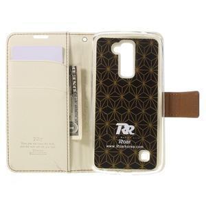 Style PU kožené puzdro pro LG K10 - biele - 6
