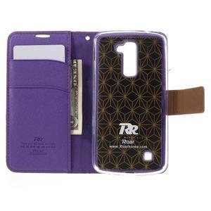 Style PU kožené puzdro pro LG K10 - fialové - 6