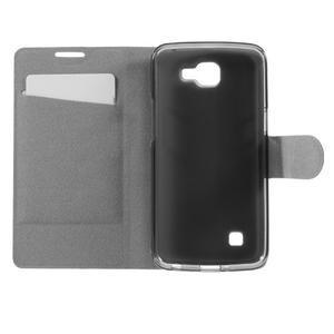 Horse PU kožené pouzdro na mobil LG K4 - modré - 6