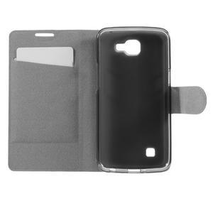 Horse PU kožené puzdro pre mobil LG K4 - biele - 6
