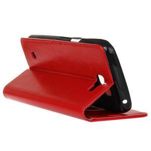 Leat peněženkové pouzdro na LG K4 - červené - 6