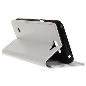 Leat peněženkové pouzdro na LG K4 - bílé - 6