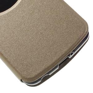 Trend puzdro s okienkom na mobil LG K4 - zlaté - 6