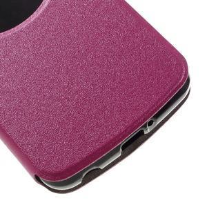 Trend puzdro s okienkom na mobil LG K4 - rose - 6