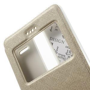 Cross peněženkové pouzdro s okýnkem na LG Zero - zlaté - 6