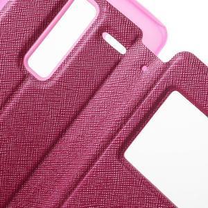 Cross peňaženkové puzdro s okienkom na LG Zero - rose - 6