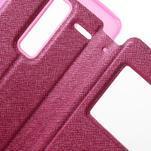 Cross peňaženkové puzdro s okienkom na LG Zero - rose - 6/7
