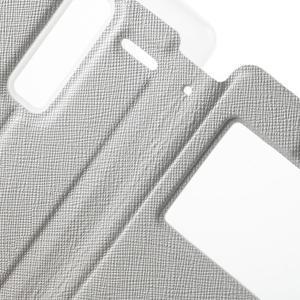 Cross peňaženkové puzdro s okienkom na LG Zero - biele - 6