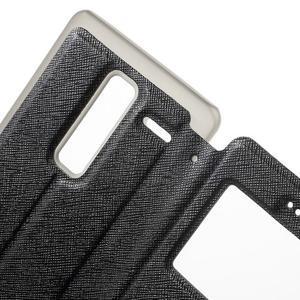 Cross peňaženkové puzdro s okienkom na LG Zero - čierne - 6