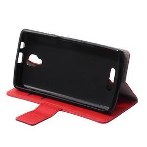 Wallet pouzdro na mobil Lenovo A1000 - červené - 6