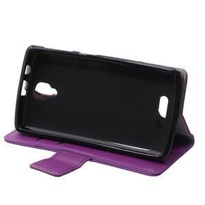 Wallet pouzdro na mobil Lenovo A1000 - fialové - 6