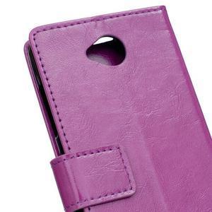 Fold peňaženkové puzdro na Microsofst Lumia 650 - fialové - 6