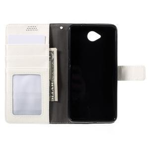 Funny peňaženkové puzdro pre mobil Microsoft Lumia 650 - biele - 6