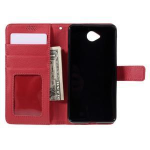 Funny peňaženkové puzdro na mobil Microsoft Lumia 650 - červené - 6