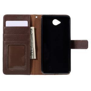 Funny peňaženkové puzdro na mobil Microsoft Lumia 650 - hnedé - 6
