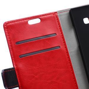 Flag peněnžekové puzdro pre Microsoft Lumia 650 - červené - 6