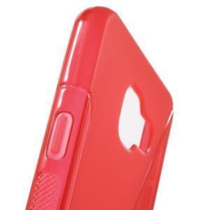 S-line gélové obal pre mobil Samsung Galaxy A3 (2016) - červený - 6