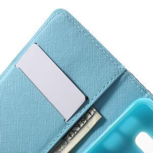 Peňaženkové puzdro na mobil Samsung Galaxy A3 (2016) - modrý motýl - 6