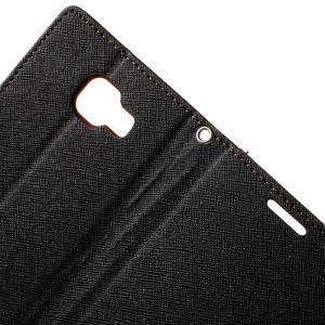 Goospery peňaženkové puzdro na Samsung Galaxy A3 (2016) - čierné/hnedé - 6