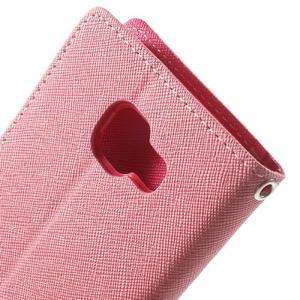 Goospery peňaženkové puzdro na Samsung Galaxy A3 (2016) - růžové - 6