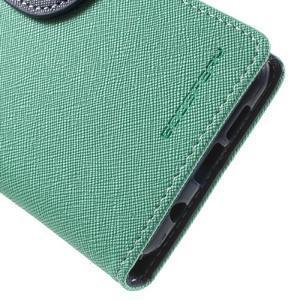 Goospery peňaženkové puzdro na Samsung Galaxy A3 (2016) - cyan - 6