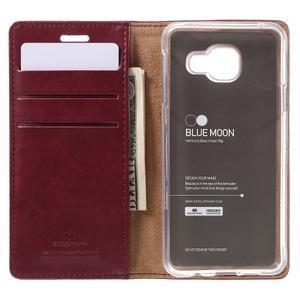 Mercury peňaženkové puzdro na Samsung Galaxy A3 (2016) - vínové - 6