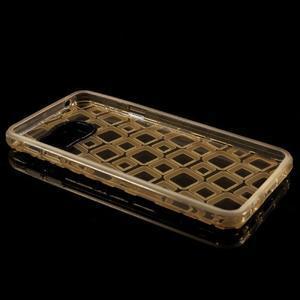 Square gélový obal pre mobil Samsung Galaxy A3 (2016) - zlatý - 6