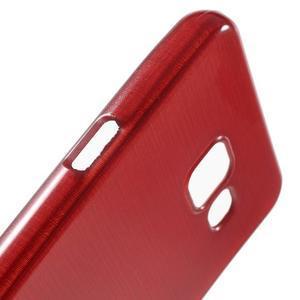 Gélový obal s motívom broušení pre Samsung Galaxy A3 (2016) - červený - 6