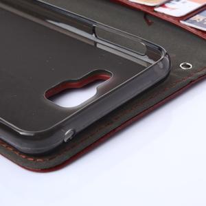 Wallet puzdro na mobil Samsung Galaxy A3 (2016) - hnedé - 6