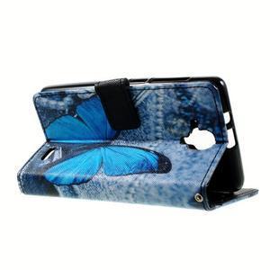 Peňaženkové puzdro na mobil Lenovo A536 - modrý motýl - 6