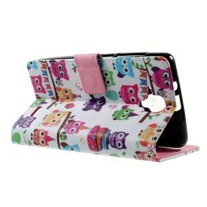 Peňaženkové puzdro na mobil Lenovo A536 - sovičky - 6
