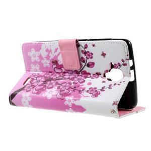 Peňaženkové puzdro na mobil Lenovo A536 - kvetoucí větvička - 6