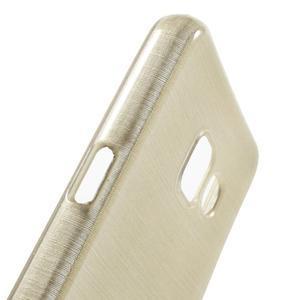 Gélový obal s motivem broušení na Samsung Galaxy A3 (2016) - zlatý - 6