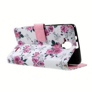 Peňaženkové puzdro na mobil Lenovo A536 - květiny - 6
