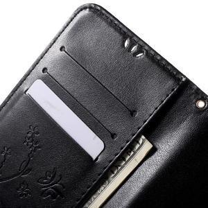 Butterfly peňaženkové puzdro na Microsoft Lumia 535 - čierné - 6