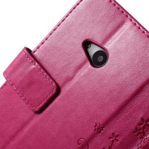 Butterfly peňaženkové puzdro na Microsoft Lumia 535 - rose - 6