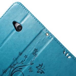 Butterfly peňaženkové puzdro na Microsoft Lumia 535 - modré - 6