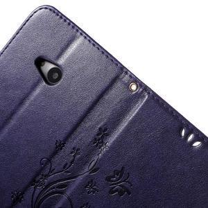 Butterfly peňaženkové puzdro na Microsoft Lumia 535 - fialové - 6