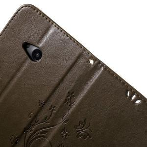 Butterfly peňaženkové puzdro na Microsoft Lumia 535 - coffee - 6