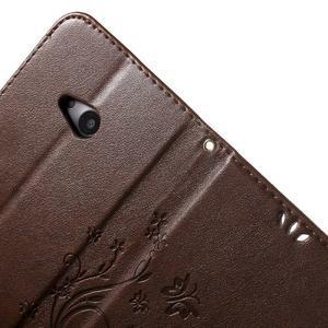 Butterfly peňaženkové puzdro na Microsoft Lumia 535 - hnedé - 6