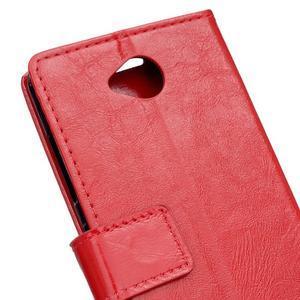 Fold peňaženkové puzdro na Microsofst Lumia 650 - červené - 6