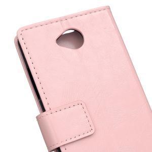 Fold peňaženkové puzdro na Microsofst Lumia 650 - ružové - 6