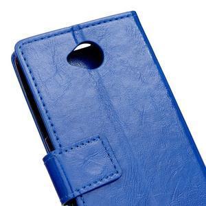 Fold peňaženkové puzdro na Microsofst Lumia 650 - modré - 6