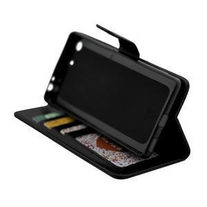 Horse PU kožené puzdro pre Sony Xperia M5 - čierne - 6