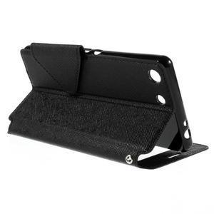 Diary puzdro s okienkom na Sony Xperia M5 - čierne - 6