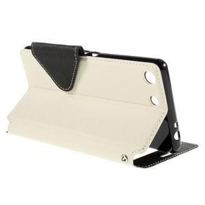 Diary puzdro s okienkom na Sony Xperia M5 - biele - 6